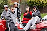 Gang Of Youths Sitting On Cars Stock Photo - Royalty-Free, Artist: MonkeyBusinessImages          , Code: 400-05729509