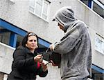 Man Mugging Woman In Street Stock Photo - Royalty-Free, Artist: MonkeyBusinessImages          , Code: 400-05729549