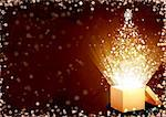 Christmas gift - horizontal background with magic box Stock Photo - Royalty-Free, Artist: frenta                        , Code: 400-05730057