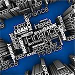 Financial Words 3D Stock Photo - Royalty-Free, Artist: eyeidea                       , Code: 400-05730305