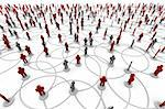 High resolution 3D illustration of people linked to a network.   Stock Photo - Royalty-Free, Artist: eyeidea                       , Code: 400-05730347