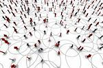 High resolution 3D illustration of people linked to a network.   Stock Photo - Royalty-Free, Artist: eyeidea                       , Code: 400-05730349