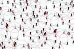 High resolution 3D illustration of people linked to a network.   Stock Photo - Royalty-Free, Artist: eyeidea                       , Code: 400-05730350