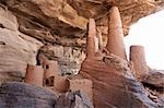The principal Dogon area is bisected by the Bandiagara Escarpment.  The Dogon are best known for their mythology, their mask dances, wooden sculpture and their architecture. Stock Photo - Royalty-Free, Artist: michelealfieri                , Code: 400-05730830