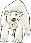 cartoon illustration of funny white polar bear Stock Photo - Royalty-Free, Artist: izakowski                     , Code: 400-05730853