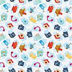 Icons for Cloud network ,seamless pattern   Stock Photo - Royalty-Free, Artist: notkoo2008                    , Code: 400-05730946