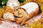 Typical Christmas cake from northern Europe Stock Photo - Royalty-Free, Artist: sabinoparente                 , Code: 400-05730952