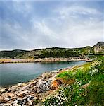 Scenic coastal view of rocky Atlantic shore in Newfoundland, Canada Stock Photo - Royalty-Free, Artist: Elenathewise                  , Code: 400-05731757