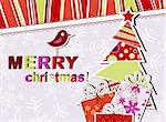 Template christmas greeting card, vector illustration Stock Photo - Royalty-Free, Artist: Tolchik                       , Code: 400-05731942