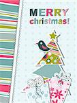 Template christmas greeting card, vector illustration Stock Photo - Royalty-Free, Artist: Tolchik                       , Code: 400-05731943