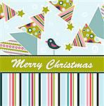 Template christmas greeting card, vector illustration Stock Photo - Royalty-Free, Artist: Tolchik                       , Code: 400-05731957
