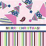 Template christmas greeting card, vector illustration Stock Photo - Royalty-Free, Artist: Tolchik                       , Code: 400-05731968