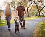 Happy Young Mixed Race Ethnic Family Walking In The Park. Stock Photo - Royalty-Free, Artist: Feverpitched                  , Code: 400-05732075