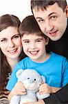 Image of a happy family on white Stock Photo - Royalty-Free, Artist: zig8                          , Code: 400-05732201