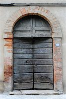 Close-up Image Of  Wooden Ancient Italian Door Stock Photo - Royalty-Freenull, Code: 400-05732356