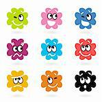 Vector set of little monsters with facial emotions.   Stock Photo - Royalty-Free, Artist: lordalea                      , Code: 400-05732505