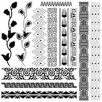 Vector image of ancient american pattern on white Stock Photo - Royalty-Freenull, Code: 400-05732622