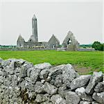 ruins of Kilmacduagh Monastery, County Galway, Ireland Stock Photo - Royalty-Free, Artist: phbcz                         , Code: 400-05732778