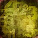retro style numbers-background in grunge style Stock Photo - Royalty-Free, Artist: ilolab                        , Code: 400-05732825