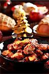 Hot chicken wings for Christmas Stock Photo - Royalty-Free, Artist: Brebca                        , Code: 400-05733109