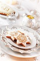 Gingerbread for Christmas in white Stock Photo - Royalty-Freenull, Code: 400-05733113