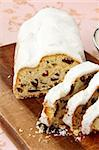 Traditional homemade stollen with dried fruits Stock Photo - Royalty-Free, Artist: Dream79                       , Code: 400-05733143