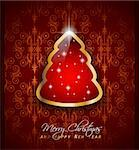 Elegant Classic Christmas Greetings background with lovely tree ideal for flyers, invitations, cards or posters. Stock Photo - Royalty-Free, Artist: DavidArts                     , Code: 400-05733989