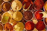 Beautiful vivid oriental market with various spices Stock Photo - Royalty-Free, Artist: Fyletto                       , Code: 400-05734034