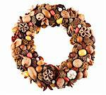 A beautiful wreath made of various dry fruits Stock Photo - Royalty-Free, Artist: Fyletto                       , Code: 400-05734051