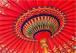A traditional red Asian umbrella Stock Photo - Royalty-Free, Artist: Dutourdumonde                 , Code: 400-05734194