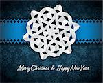 Vector white paper christmas snowflake on a blue background Stock Photo - Royalty-Free, Artist: orsonsurf                     , Code: 400-05734350