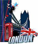Cover for brochure with London images. Vector illustration Stock Photo - Royalty-Free, Artist: leonido                       , Code: 400-05734627