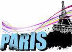 3D word Paris on the Eiffel tower grunge background. Vector illustration Stock Photo - Royalty-Free, Artist: leonido                       , Code: 400-05734634