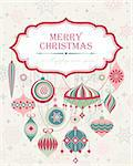 Christmas background with place for text. Vector illustration. Stock Photo - Royalty-Free, Artist: avian                         , Code: 400-05734811