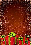 Vertical background with christmas gifts Stock Photo - Royalty-Free, Artist: frenta                        , Code: 400-05735214