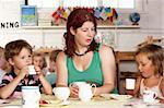 Montessori/Pre-School Class Listening to Teacher on Carpet Stock Photo - Royalty-Free, Artist: MonkeyBusinessImages          , Code: 400-05735281