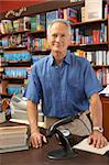 Male bookshop proprietor Stock Photo - Royalty-Free, Artist: MonkeyBusinessImages          , Code: 400-05735297