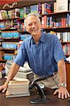Male bookshop proprietor Stock Photo - Royalty-Free, Artist: MonkeyBusinessImages          , Code: 400-05735298