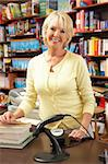 Female bookshop proprietor Stock Photo - Royalty-Free, Artist: MonkeyBusinessImages          , Code: 400-05735299