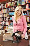 Female bookshop proprietor Stock Photo - Royalty-Free, Artist: MonkeyBusinessImages          , Code: 400-05735309