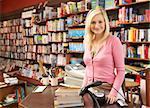Female bookshop proprietor Stock Photo - Royalty-Free, Artist: MonkeyBusinessImages          , Code: 400-05735310