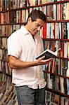 Male customer in bookshop Stock Photo - Royalty-Free, Artist: MonkeyBusinessImages          , Code: 400-05735319