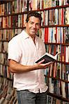 Male customer in bookshop Stock Photo - Royalty-Free, Artist: MonkeyBusinessImages          , Code: 400-05735320