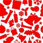 Seamless vector christmas pattern from various shapes Stock Photo - Royalty-Free, Artist: orsonsurf                     , Code: 400-05735545