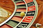 image with a casino roulette wheel with the ball on number 6 Stock Photo - Royalty-Free, Artist: tony4urban                    , Code: 400-05735567