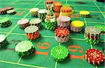 image with a casino roulette table layout with chips and dolly Stock Photo - Royalty-Free, Artist: tony4urban                    , Code: 400-05735569