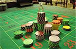 image with a casino roulette table layout with chips and dolly Stock Photo - Royalty-Free, Artist: tony4urban                    , Code: 400-05735574