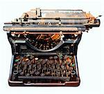 old rusty isolated typewriter vintage office equipment Stock Photo - Royalty-Free, Artist: kikkerdirk                    , Code: 400-05735793