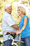 Senior Couple On Cycle Ride In Park Stock Photo - Royalty-Free, Artist: MonkeyBusinessImages          , Code: 400-05736149