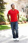 Young Man Walking Through City Street Stock Photo - Royalty-Free, Artist: MonkeyBusinessImages          , Code: 400-05736597